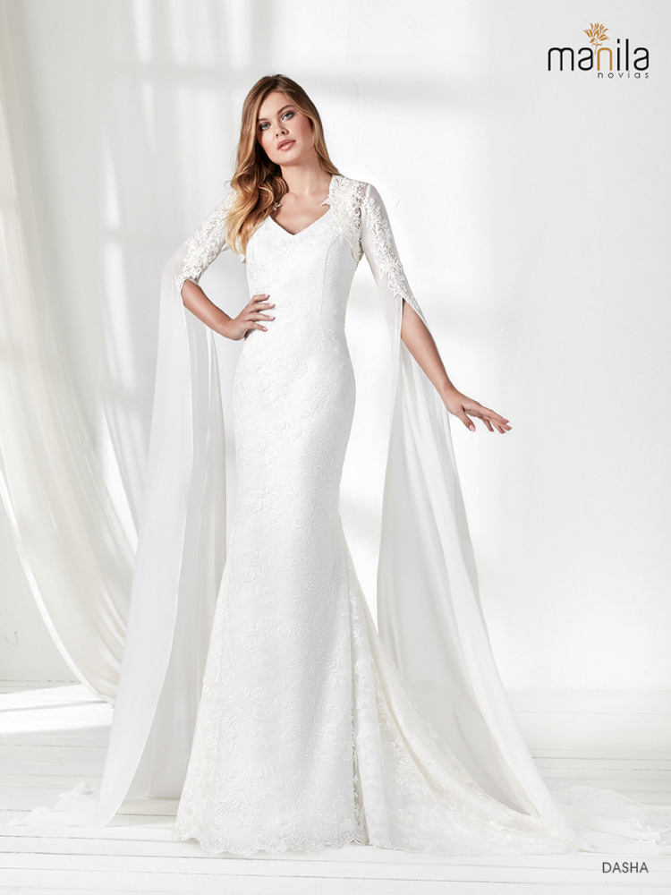 Vestido de novia Dasha con torera